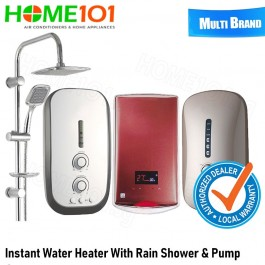 Multi Brand Instant Water Heater with Pump and Rain Shower [Multi Models]