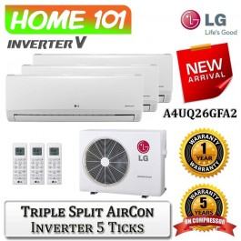 LG New Art Cool Multi Split AirCon [System 3] Ava in A4UQ26GFA2