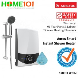 Ariston Aures Series Electric Instant Water Heater SMC33