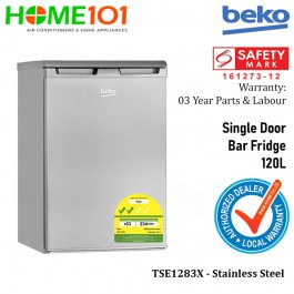 Beko Single Door Bar Fridge 120L [TSE1283X]
