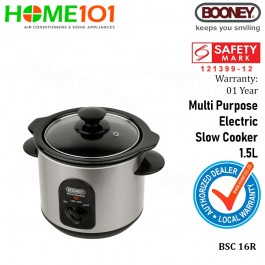 Booney Multi Purpose Electric Slow Cooker 1.5L BSC16R