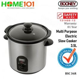 Booney Multi Purpose Electric Slow Cooker 3.5L BSC36R