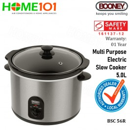 Booney Multi Purpose Electric Slow Cooker 5.0L BSC56R