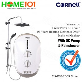Cornell Electric Instant Water Heater with DC Pump and Rainshower CIS-E369DCR SILVER