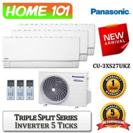 Panasonic Triple Split Series Multi Split AirCon [System 3] Ava in CU-3XS27UKZ