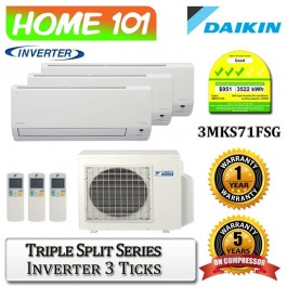 Daikin Triple Split Series Multi Split AirCon [System 3] Ava in 3MKS71FSG