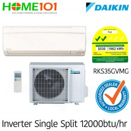 Daikin Single Split Series 2 Ticks AirCon 12000BTU RKS35GVMG [System 1] *with FREE Replacement Service*