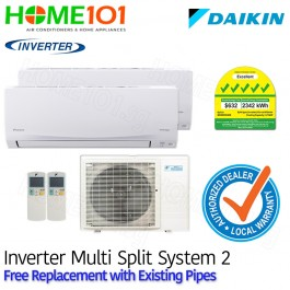Daikin Multi Split AirCon [SYSTEM. 2] *with FREE Replacement Service*