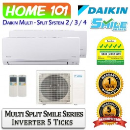 Daikin Smile Series Multi Split AirCon - SYS. 2 - 4 [5 Ticks]