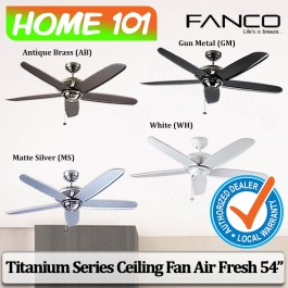 Fanco Titanium Series Ceiling Fan Air Fresh 54