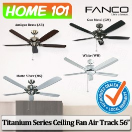 Fanco Titanium Series Ceiling Fan Air Track 56