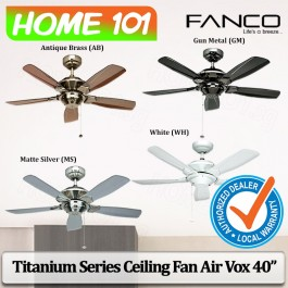 Fanco Titanium Series Ceiling Fan Air Vox 42