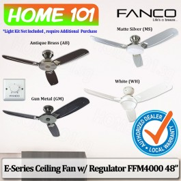 Fanco E-Series Ceiling Fan w/ Regulator FFM 4000 48