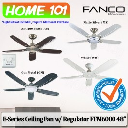 Fanco E-Series Ceiling Fan w/ Regulator FFM 6000 48