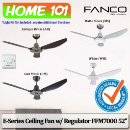 Fanco E-Series Ceiling Fan w/ Regulator FFM 7000 52