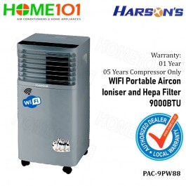 Harson's WIFI Enabled Portable Aircon With Ioniser and Hepa Filter 9000BTU PAC-9PW88 *NO INSTALLATION*