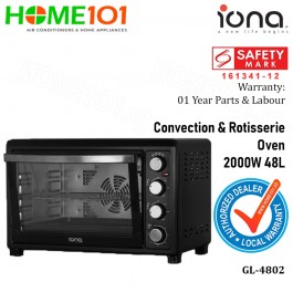 Iona Convection and Rotisserie Oven 2000W 48L GL-4802