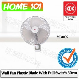 KDK Wall Fan 30cm Plastic Blade M30CS