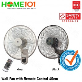 KDK Wall Fan 40cm with Remote Control M40MS