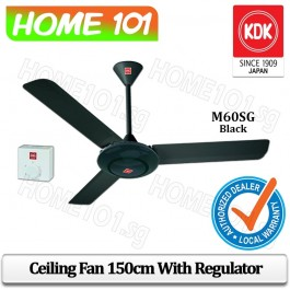 KDK Ceiling Fan 150cm w/ Regulator M60SG-BK