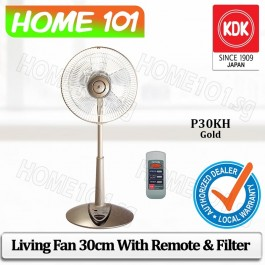 KDK Living Fan 30cm w/Remote Control and Filter P30KH