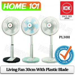KDK Living Fan 30cm Plastic Blade PL30H  ***WHITE COLOR: Stk Arr Mid June***