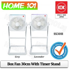 KDK Box Fan 30cm with Timer and Stand SS30H