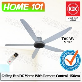 KDK Ceiling Fan with DC Motor 150cm with Remote Ctrl T60AW