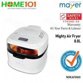 Mayer Mighty Air Fryer 8.0 Litres MMAF800 (Stk Arr In April)
