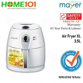 Mayer XL Air Fryer 3.5 Litres MMAF88 WHITE (STOCK ARR ON 12 JUNE)