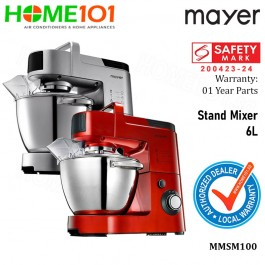 Mayer Stand Mixer 6L MMSM100 | Available in Silver / Red (PRE-ORDER : STOCK ARRIVE ON END OCT)
