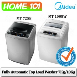 Midea Fully Automatic Top Load Washer 7.0KG - 10KG [MT725B][MT750B]