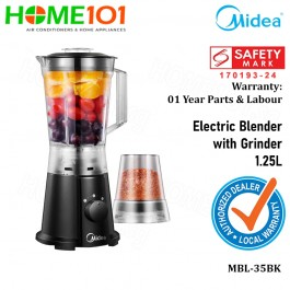 Midea Electric Blender With Grinder 1.25L MBL-35BK