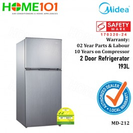 Midea Top Mount Freezer 2 Door Refrigerator 193L MD212