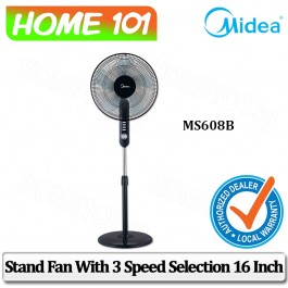 Midea Stand Fan 16 inch 40CM with 2 Hours Timer MS608B