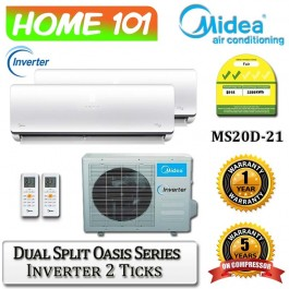 Midea Dual Split Oasis Series AirCon [System 2] Ava in MS-20D-21