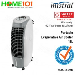 Mistral Portable Evaporative Air Cooler 15L MAC1600R