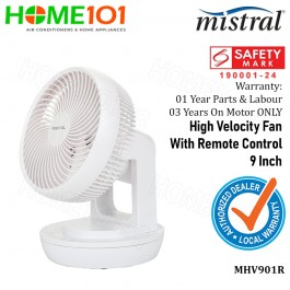 Mistral Mimica High Velocity Fan With Remote Control 9 Inch MHV901R