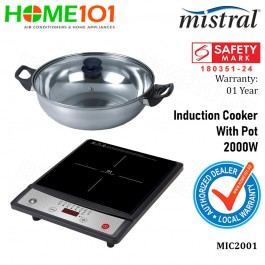 Mistral Induction Cooker With Pot 2000W MIC2001