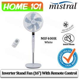 Mistral Inverter Stand Fan 16 inch with Remote Control MIF400R