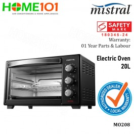 Mistral Electric Oven with Rotisserie and Convection function 20L MO208