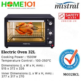 Mistral Electric Oven 1500W 32L MO32RCL