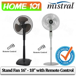 Mistral Stand Fan 16 inch - 18 inch With Remote Control