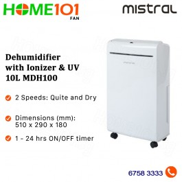 Mistral Dehumidifier with Ionizer and UV 10L MDH100