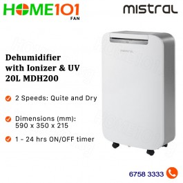 Mistral Dehumidifier with Ionizer and UV 20L MDH200