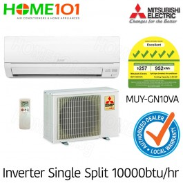 Mitsubishi Single Split Series 5 Ticks AirCon 9000BTU MUY-GN10VA [System 1] *with FREE Replacement Service*