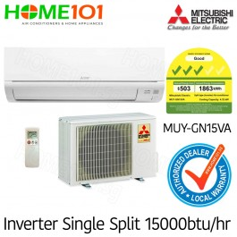 Mitsubishi Single Split Series 3 Ticks AirCon 15000BTU MUY-GN15VA [System 1] *with FREE Replacement Service*