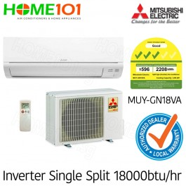 Mitsubishi Single Split Series 3 Ticks AirCon 18000BTU MUY-GN18VA [System 1] with *FREE Replacement Service*