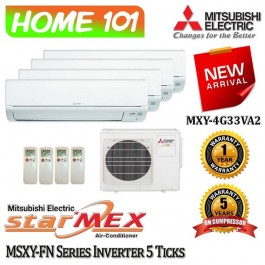 Mitsubishi StarMex MSXY-FN Series Multi-Split AirCon [System 4] Available in MXY-4G33VA2