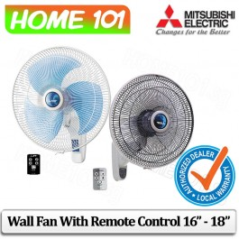 Mitsubishi Wall Fan With Remote Control 16 Inch - 18 Inch